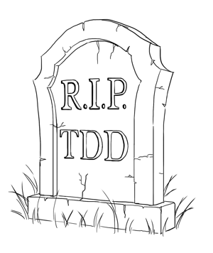 headstone for test driven development